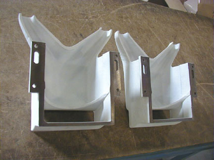 Aluminum oxide ceramic provides molten metal resistance for these ladles used in an aluminum die casting process